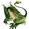 Pseudo dragon vert